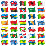Flags of the World 2 Royalty Free Stock Photos