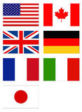 Flags of the world. Vector illustration of flags of the world Royalty Free Stock Photography