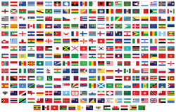 Flags of the world. Vector illustration background royalty free illustration
