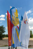 Flags of World Youth Day 2016 in the Centre of Pope John Paul II in Lagiewniki. Cracow. Stock Photography