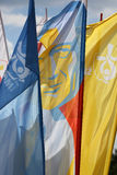 Flags of World Youth Day 2016 in the Centre of Pope John Paul II in Lagiewniki Royalty Free Stock Image