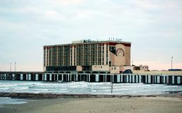 Flagship Hotel post Hurricane Ike. This was the damage cause to the Flagship Hotel in Galveston after Hurricane Ike. Sadly the damage was too great that they Stock Photo