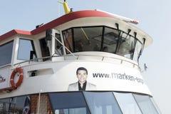 Flagship ms Jan Smit from the Volendam Marken Express between the port towns Volendam and Marken. Royalty Free Stock Photography
