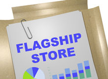 Flagship Store - business concept Royalty Free Stock Image