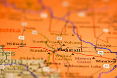 Flagstaff arizona area map Royalty Free Stock Images