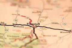 Flagstaff arizona area map Stock Image