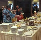 A Little America Hotel Flagstaff Thanksgiving Brunch Dessert Tab Royalty Free Stock Images