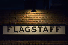 Flagstaff Sign. Image taken at the Flagstaff train station Royalty Free Stock Images