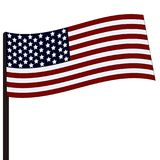flagstenga bandery usa Obraz Royalty Free
