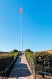 Flagstenga bastion przy fortem Monroe w Hampton, Virginia Zdjęcie Stock