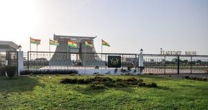 Flagstenga dom - Prezydencki pałac Ghana Obraz Stock