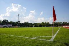 Flagstengi narożnikowy kopnięcie przy Khonkaen boiskiem piłkarskim , Tajlandia , 05 Zdjęcia Royalty Free