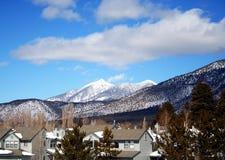 flagstengi sąsiedztwa zima Obraz Royalty Free