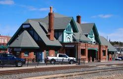 flagstengi stacja kolejowa Zdjęcia Royalty Free