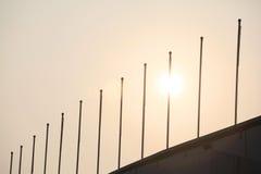 Flagsticks stojak w wielkich liczbach, Obrazy Royalty Free