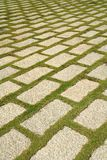 Flagstone courtyard. Raws of flagstones in courtyard Royalty Free Stock Images