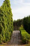 Flagstone Pavement. Flagstone Pathway in the Public Garden Stock Photo