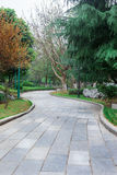 Flagstone paver path Royalty Free Stock Photos