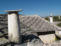 Flagstone roof in Bosnia. Royalty Free Stock Image