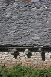 Flagstone roof Stock Photo