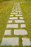 Flagstone walk Royalty Free Stock Photography
