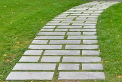 Flagstone walkway Royalty Free Stock Photos