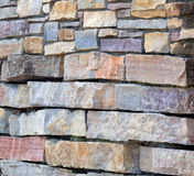 Flagstone wall background Stock Photo