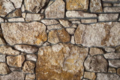 Flagstone Wall. An old flagstone wall close up Royalty Free Stock Photos
