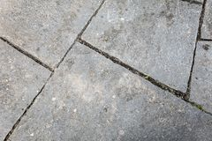 Flagstones needs to be grout. Topview of flagstones that need to be grout Royalty Free Stock Images