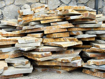 Flagstones on stack Royalty Free Stock Photography