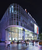 Flagstore alla notte, Shanghai, Cina di Apple Immagini Stock Libere da Diritti
