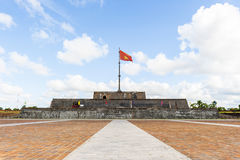 Flagtower at Imperial City of Hue. Flagtower are a part of the complex of Hue monuments, which are listed as the Unesco Word Heritage Site royalty free stock photography