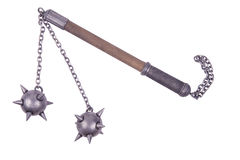 Flail with spiked balls Stock Photos