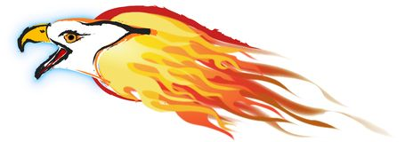 Flaiming Eagle Illustration Stock Images