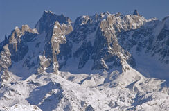 Flaine - crags. Detail from the Mont Blanc massiv. Flaine, France stock images