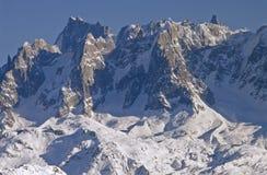 Flaine - steile rotsen Stock Afbeeldingen