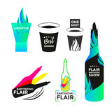 Flair bartending icon Stock Photo