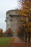 Flak Tower (anti-aircraft tower) in Vienna. A Flak tower in Augarten Park, Vienna, built in the times of a WWII by Hitlers government, and never destroyed Stock Images