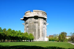 Flak tower G, Vienna. Flak towers (German: Flaktuerme) were 8 complexes of large, above-ground, anti-aircraft gun blockhouse towers constructed in the cities of Stock Photos