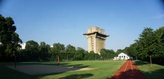 Flak Tower in Vienna. Flak Tower in Augarten Park in Vienna Stock Image