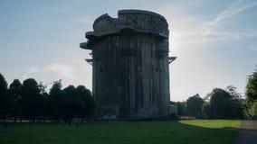 Flak Tower in Vienna. Flak Tower in Augarten Park in Vienna Stock Photos