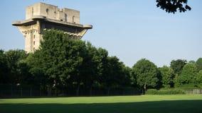 Flak Tower in Vienna. Flak Tower in Augarten Park in Vienna Royalty Free Stock Image