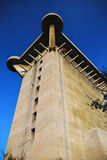 The 'L-Tower' at Augarten, Vienna. Flak towers (German: Flaktuerme) were 8 complexes of large, above-ground, anti-aircraft gun blockhouse towers constructed in Stock Image