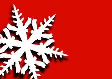 Flake of snow Royalty Free Stock Photos
