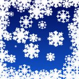 Flake of snow. On blue background vector illustration