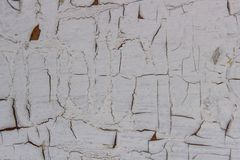 Flaked bielu farba obrazy royalty free