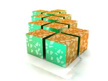 Flaked cubes Royalty Free Stock Photography