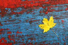 Flaked paint with leaf Royalty Free Stock Images