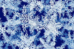 Flakes_02. A computer-generated render illustration of falling snowflakes Royalty Free Stock Images