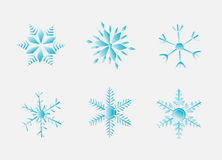 Flakes. Illustration of flakes, six, winter, snow Royalty Free Stock Images